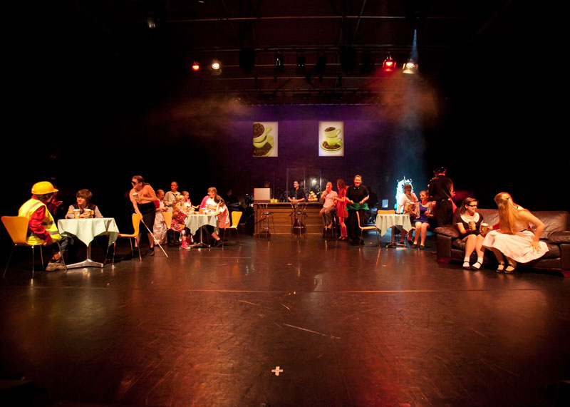 CCast on stage - (c) Richard Washbrooke Photography