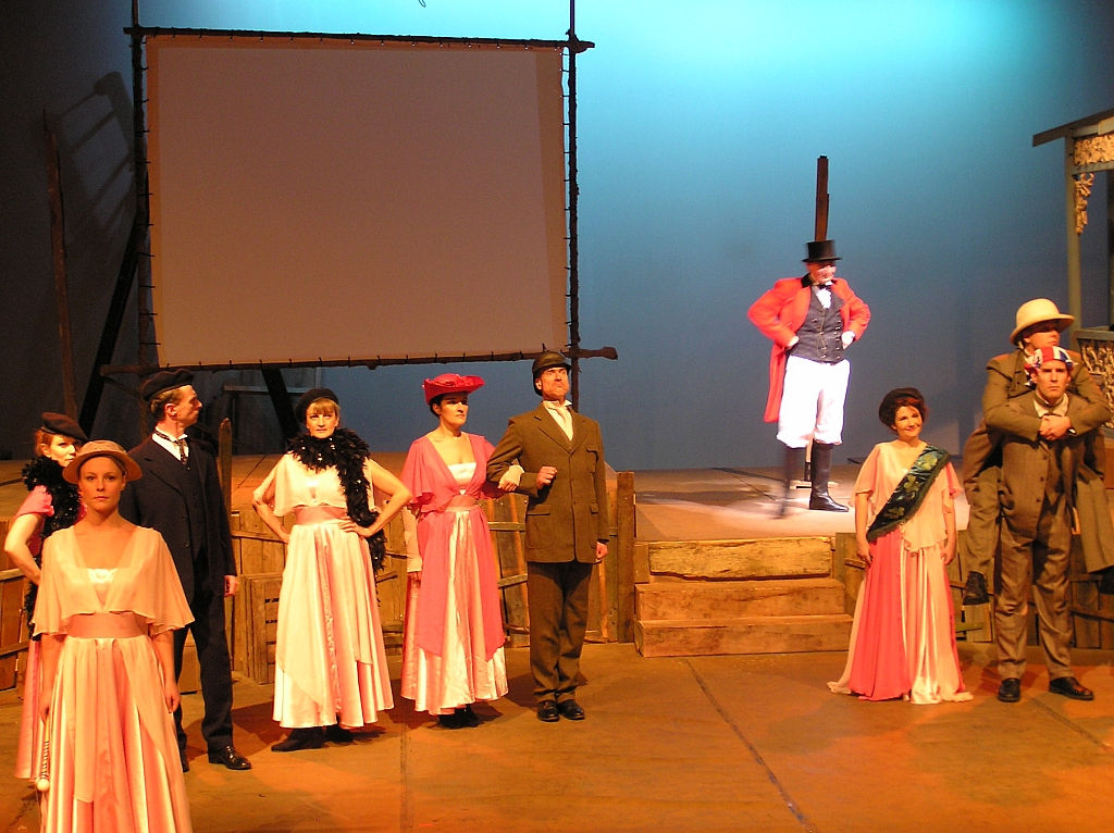 The cast - Centre stage