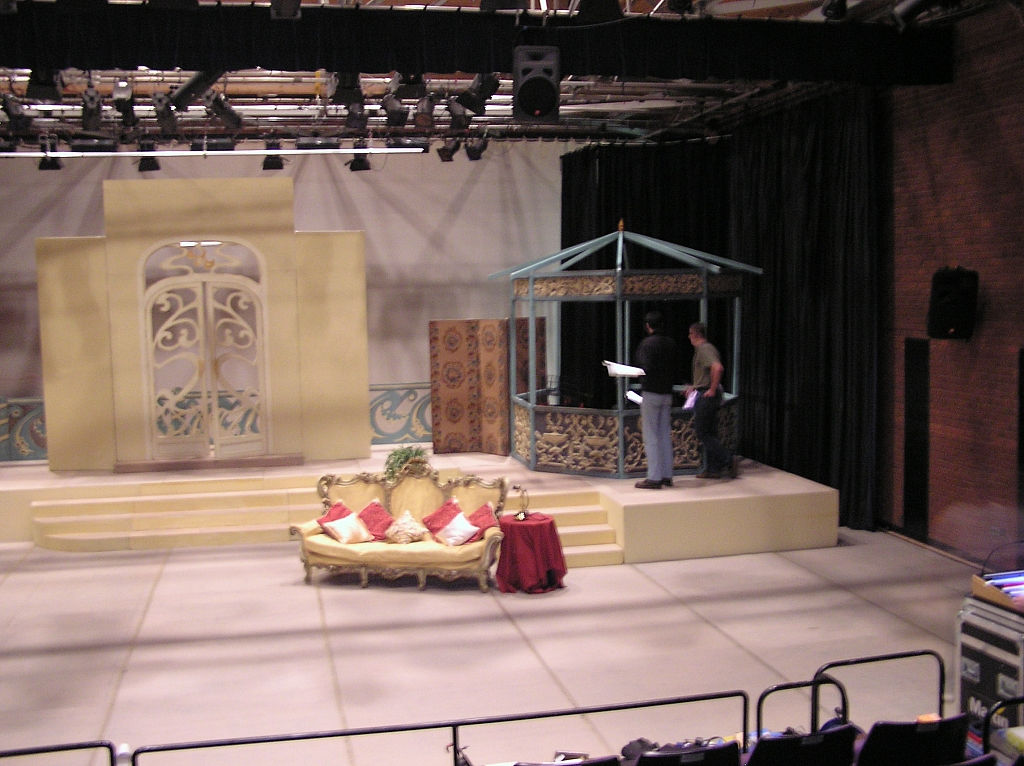 The set - Stage left