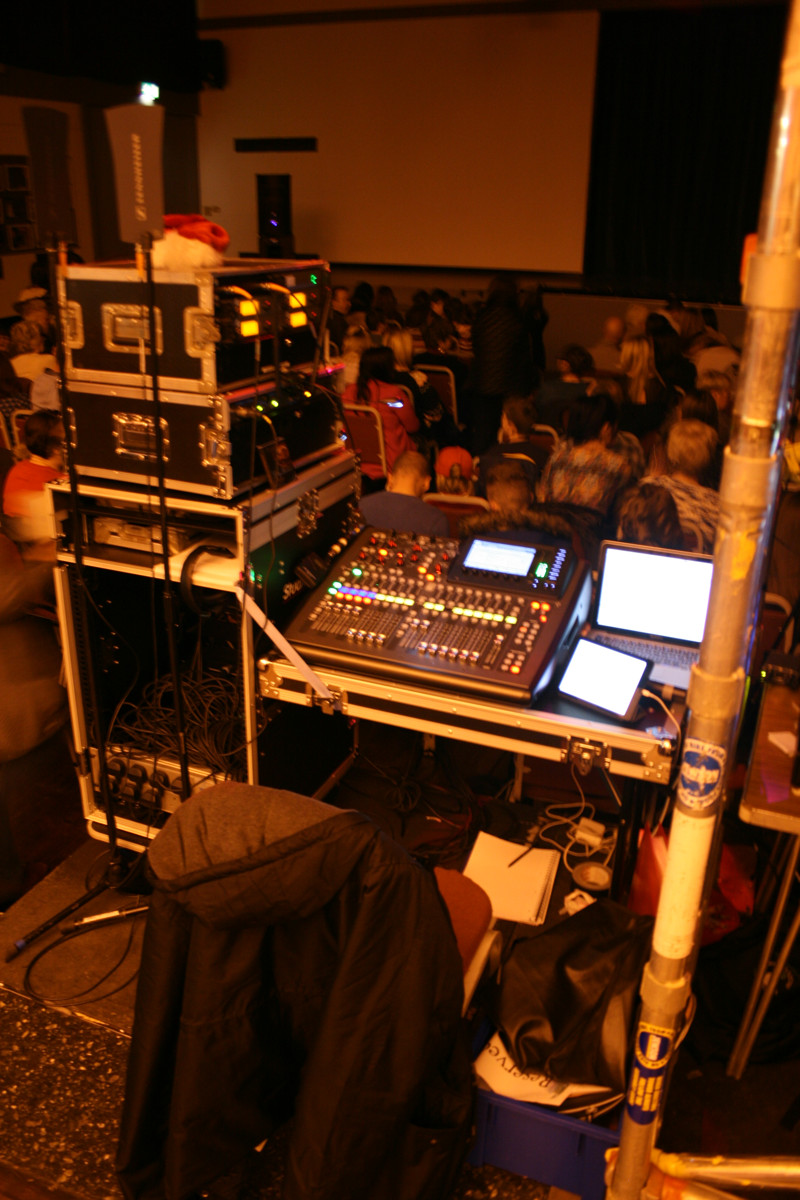 The sound desk