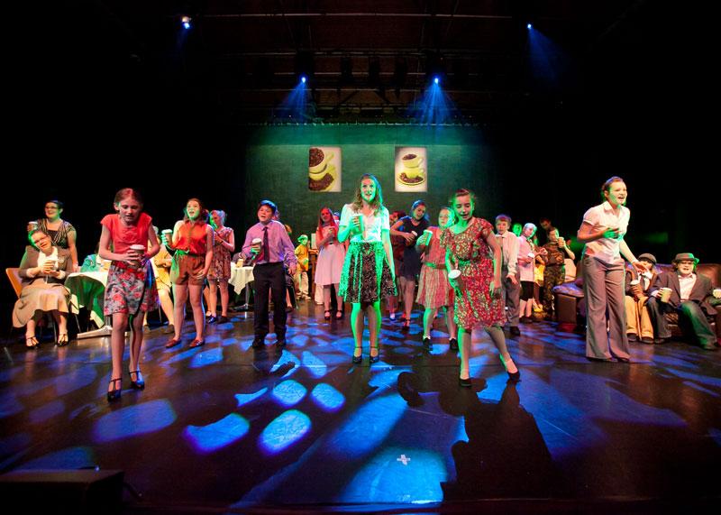 CCast on stage - (c) Richard Washbrooke Photography