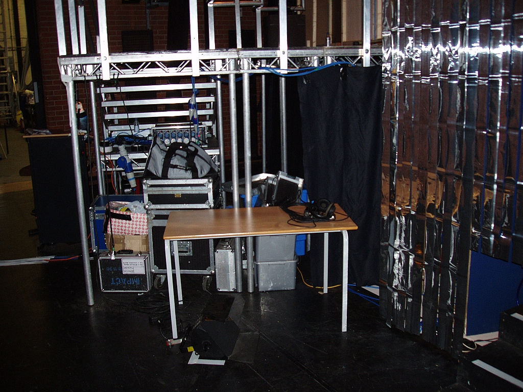 Backstage area