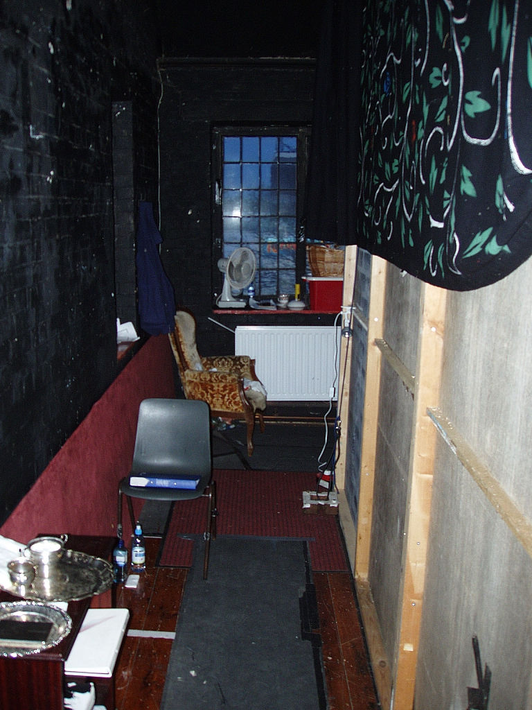 Backstage area