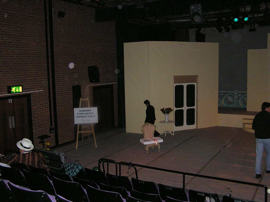 The set - Stage right