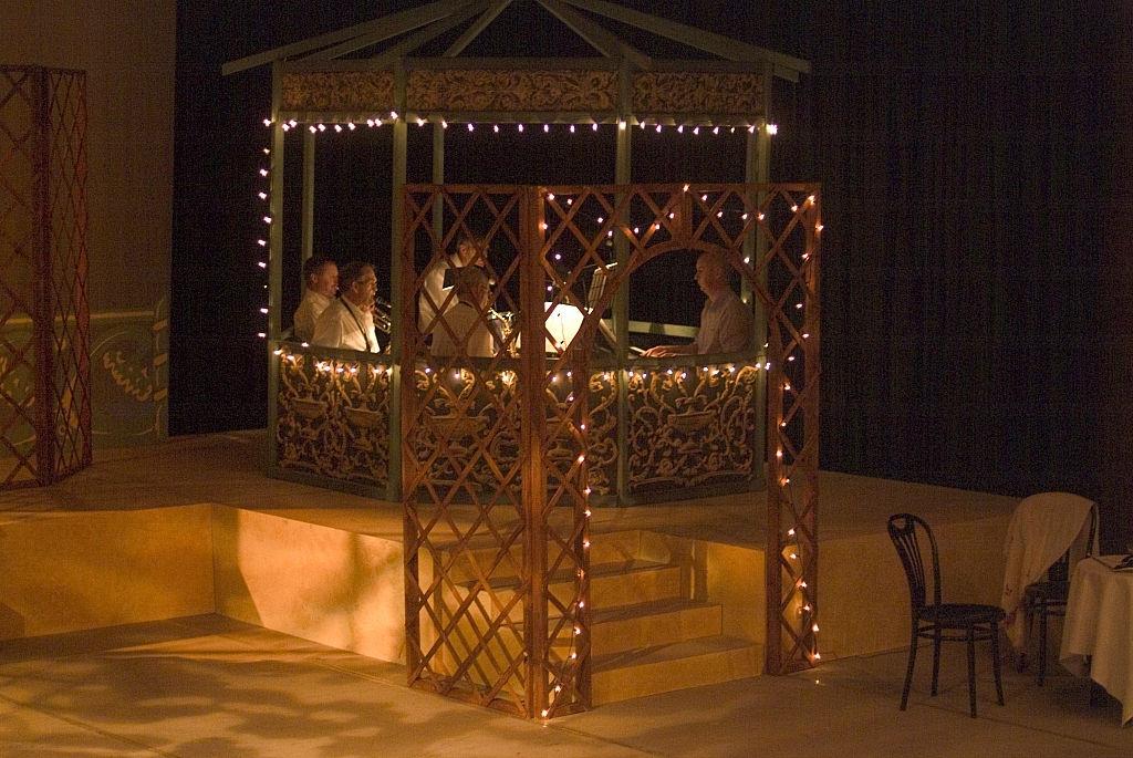 Illumnated bandstand