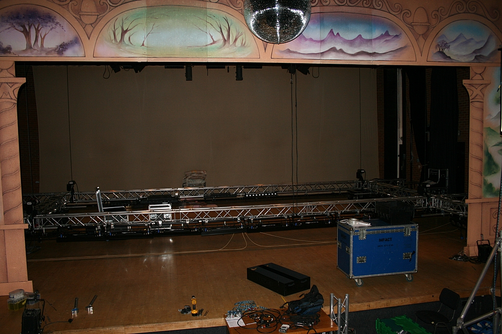 Stage with truss flown in
