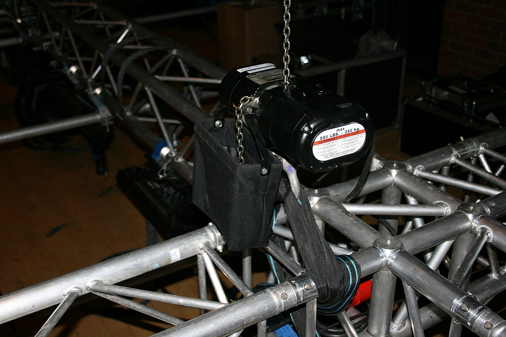 One of the four motors