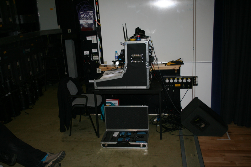 The stage managers desk